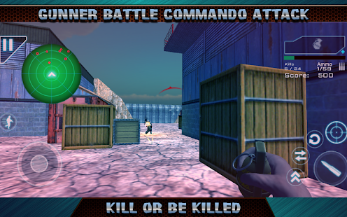 Gunner Battle Commando Attack - náhled