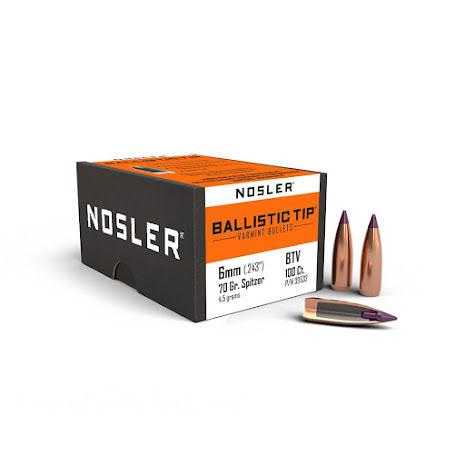 Nosler BT 6mm 70gr Spitzer 50st