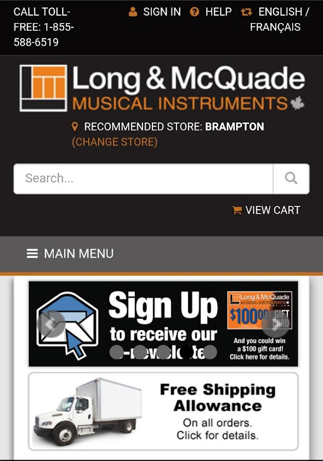 Long & McQuade Shop Online- screenshot