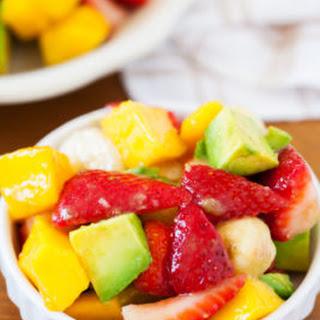 Strawberry & Avocado Summer Fruit Salad