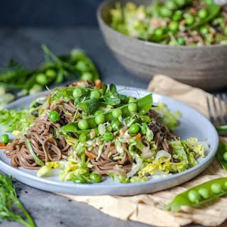 Spring Green Soba Noodle Salad {Vegan}.