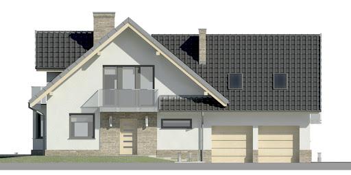 Dom przy Cyprysowej 15 K2 - Elewacja przednia