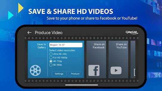 Tải PowerDirector Premium: Ứng dụng sửa video (Mod Unlocked) 7