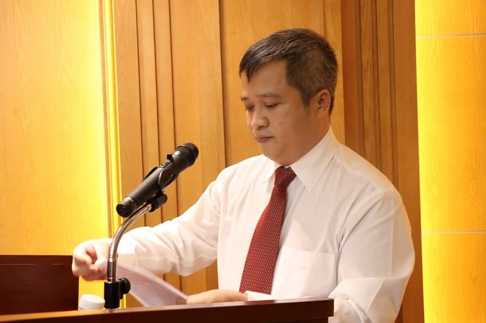 Tân Bí thư Tỉnh ủy Trần Tiến Hưng phát biểu tại buổi lễ