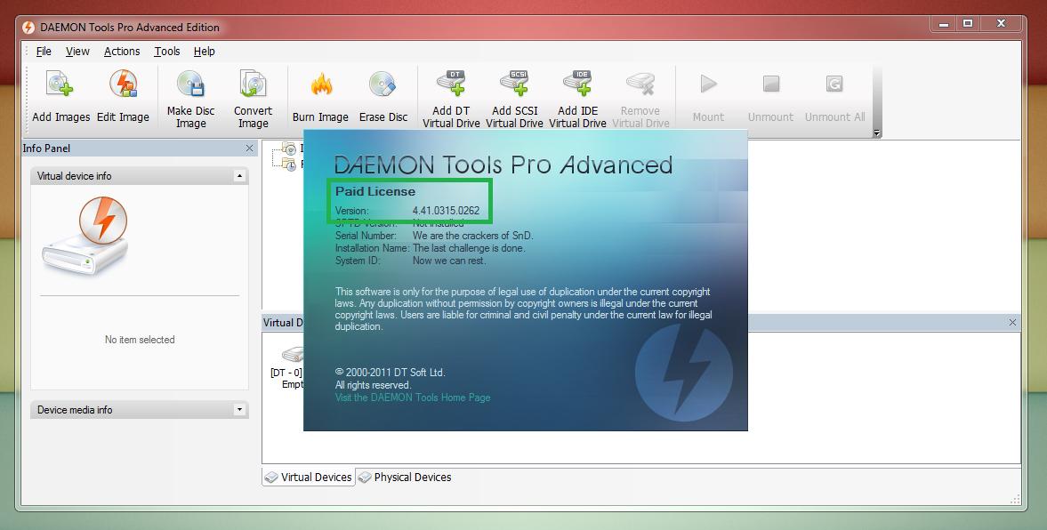 Daemon tools pro 4 41 0314
