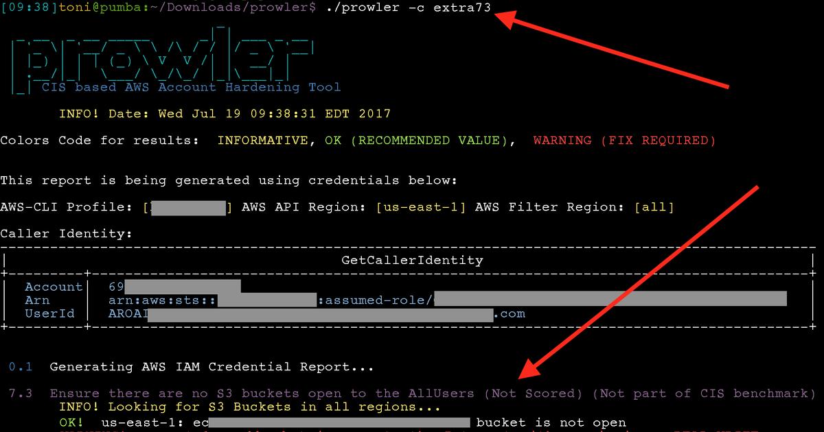 Zoran's Blog: AWS CIS Security Benchmark Tool - Prowler