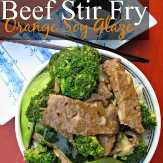 Beef Stir Fry Recipe with Orange Soy Glaze