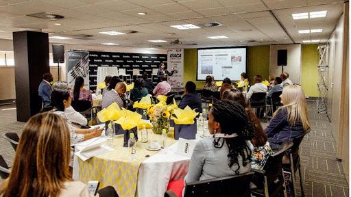 Attendees enjoying the keynote speaker presentation