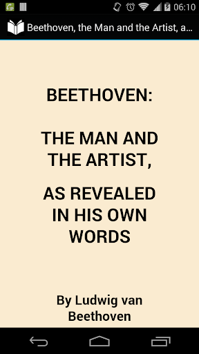 Beethoven in His Own Words