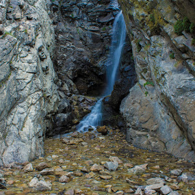 Rocky Mouth Waterfall by Jason Murray - Landscapes Waterscapes ( water, mountains, mountain, blue, waterscape, beautiful, waterfall, canyon, beauty, waterscapes, stunning,  )