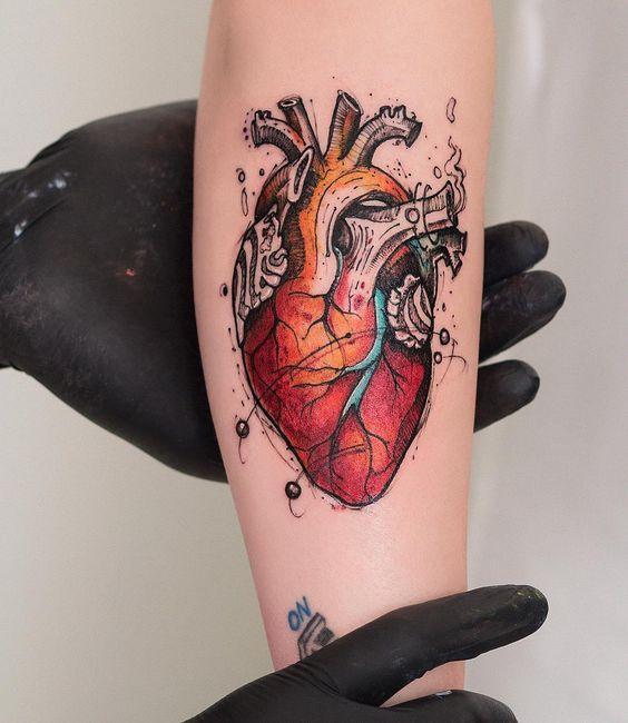 ลายสักหัวใจสี10