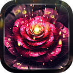 Neon Flowers Live Wallpaper icon