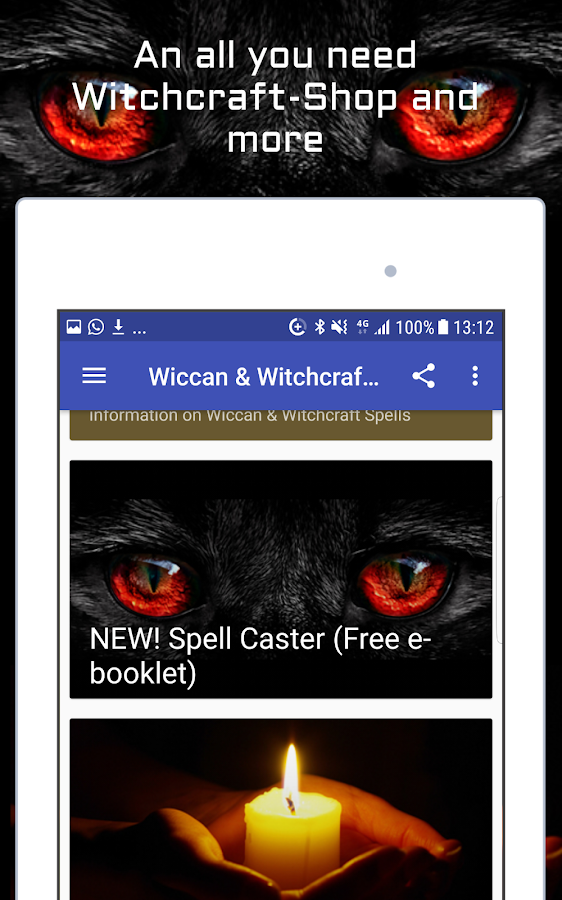 Wiccan and Witchcraft Spells- screenshot