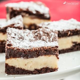 Fudgey Cheesecake Brownies