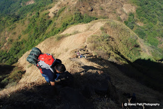 Photo: Descending Rajgad...