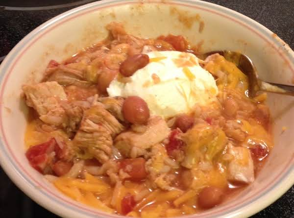 Low Fat Slow Cooker Turkey Taco Soup Recipe