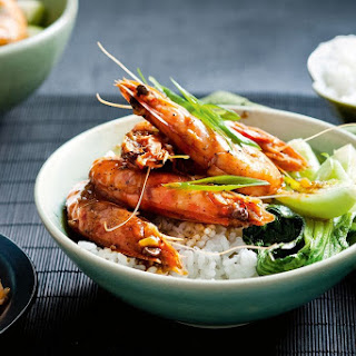 Black Pepper Prawns.