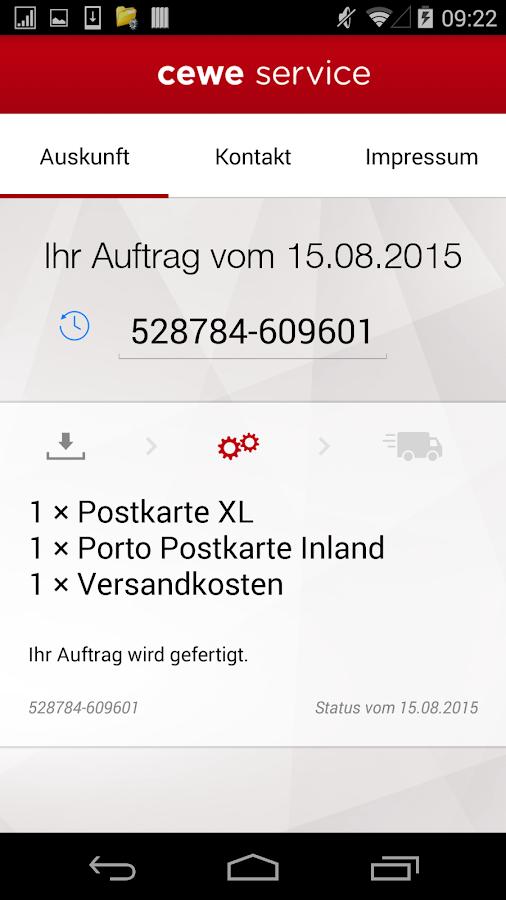 cewe service- screenshot