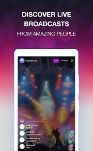 Live Streaming - LiveScope - náhled