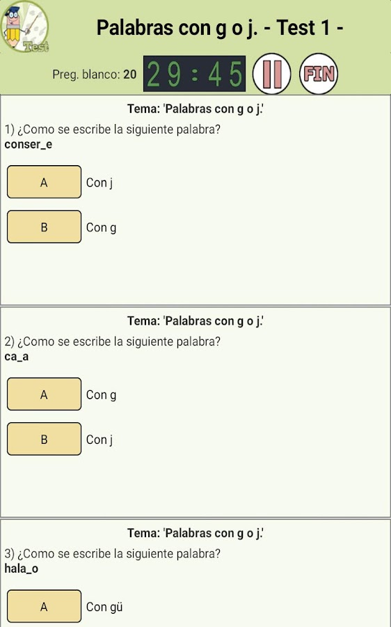 Aprende Ortografía con Tests- screenshot