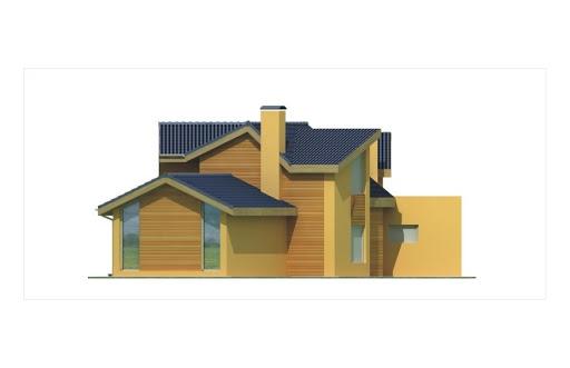 Bursztyn wersja B z podwójnym garażem - Elewacja tylna