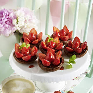 Chocolate and Strawberry Tartlets.