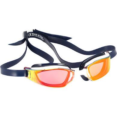 Michael Phelps Xceed Goggles: Blue/White with Titanium Mirror Lens