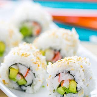 Sushi Rice and California Rolls.