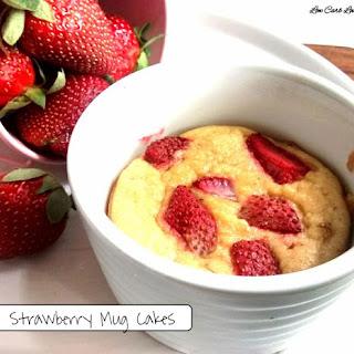 Strawberry Mug Cakes