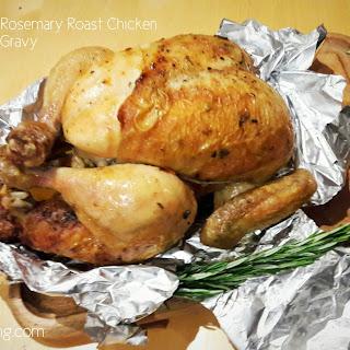 Lemon and Rosemary Roast Chicken with Onion Gravy