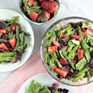 Asparagus Strawberry Mixed Green Salad.