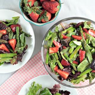 Asparagus Strawberry Mixed Green Salad.