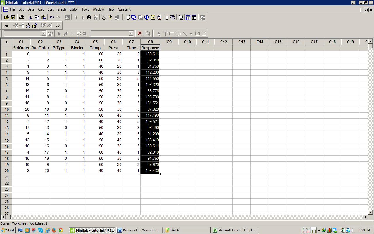 response surface methodology minitab pdf