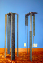 Photo: stand siblings, 5.7.2010, 8x11x36, steel flat and round stock