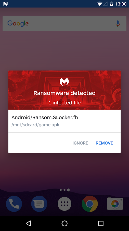 Malwarebytes for Android- screenshot