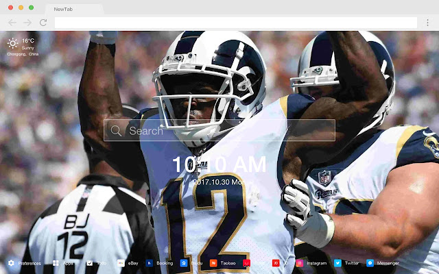 Los Angeles Rams New Tabs HD Rugby  Themes