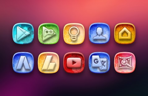 Honey bee Icon Pack Theme Screenshot