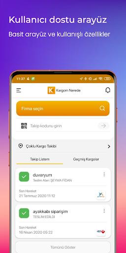 Kargom Nerede - Kargo Takip screenshot 1