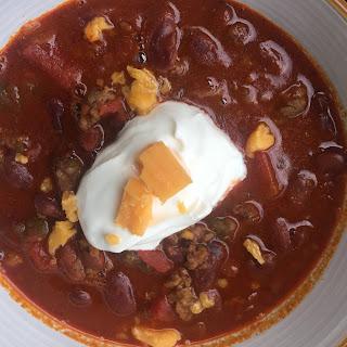 Way Yummy Homemade Chili.