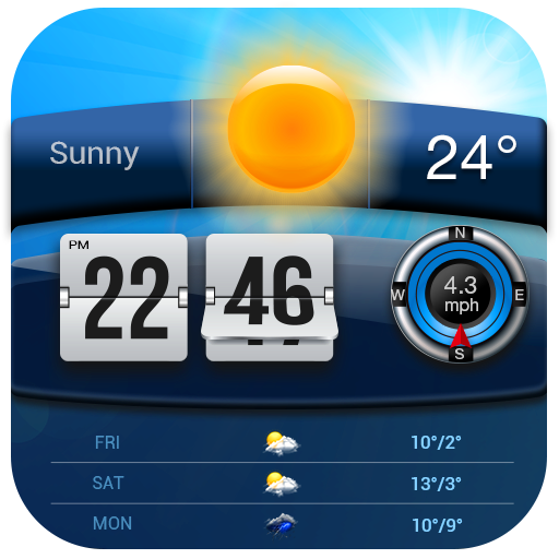 Flip Clock & Weather New 2017 app (apk) free download for Android/PC/Windows