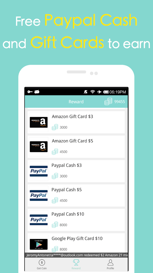 Cash Gift - Free Gift Cards- screenshot