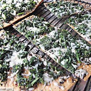 Spinach Mozzarella Pesto FlatOut Pizza.
