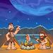 Caveman adventures in jungle icon