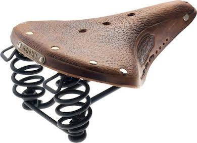 Brooks B67 - Pre-Aged Saddle Dark Tan with Laces - Black Steel  alternate image 0