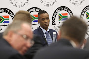 Duduzane Zuma at the state capture inquiry in Parktown, Johannesburg, on October 7 2019.