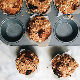 CARAMELISED BANANA MUFFINS WITH A CINNAMON CRUMBLE