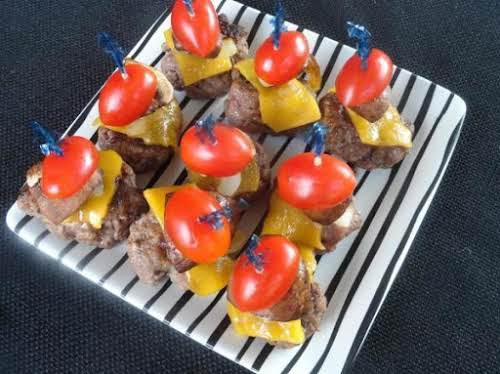 "Cheddar Burger Appetizers ""I made these easy & delicious appetizers for my..."