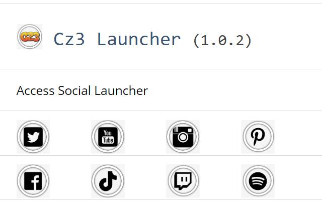Cz3 Social Launcher