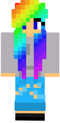 This is my new and improved Colorful Girl Skin!