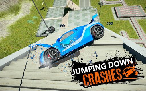 Car Crash Beam  Drive Sim: Death Stairs Jump Down 1.2 screenshots 5